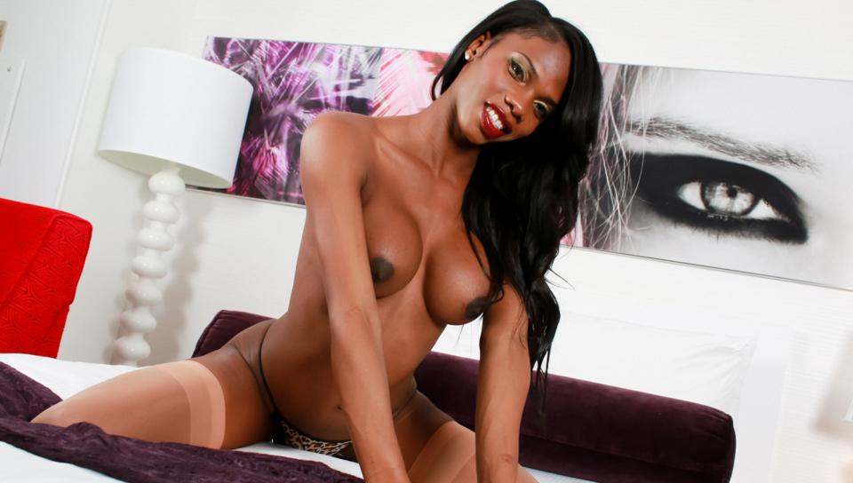 TS Brooke Morgan in hot solo video