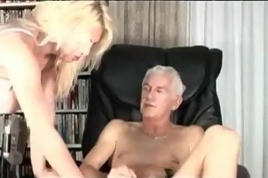 Wet Sex In The Library This Granddad Loves It