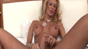 Blonde Latina Shemale Grazielle Sanches Solo