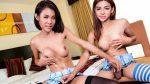 Femme Thai T-Girls Cum Side-By-Side